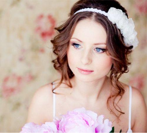 фото прически на свадьбу для средних волос