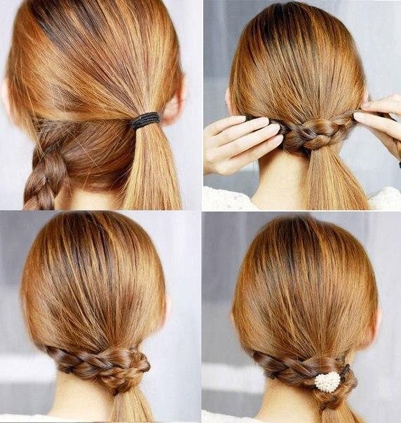 Как сделать красивую прическу на средние волосы