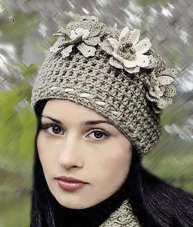 Вязаный цветок крючком на шапку. Крсивые вязаные цветы своими руками