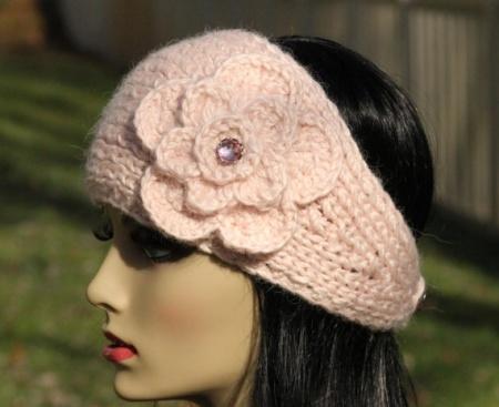 Как связать повязку на голову спицами? Вязаная повязка на голову для девушек.