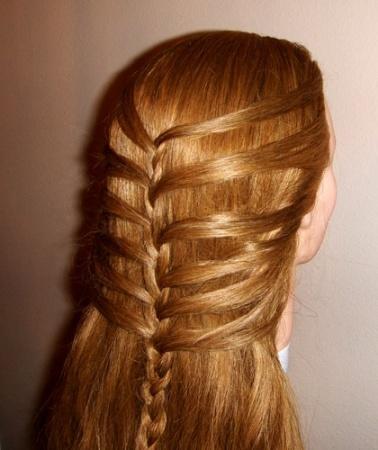 Плетение кос на средние волосы. Разные варианты