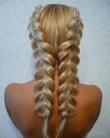 Колоски на средние волосы. Варианты плетения