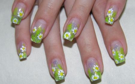 Дизайн ногтей Подснежники. Красиво и стильно