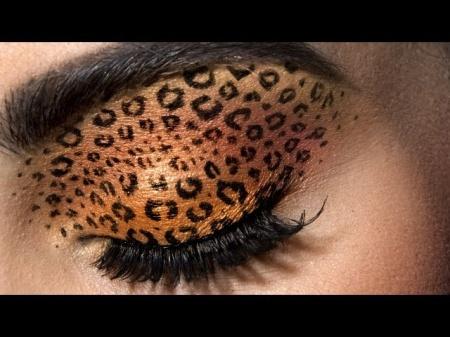 Леопардовый макияж глаз. Быстро и просто