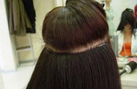 Наращивание волос трессами. Особенности