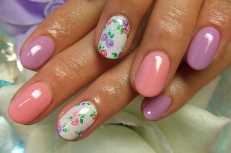 Разноцветный дизайн ногтей. Варианты создания