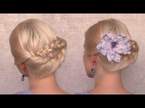 Летняя прическа с плетением на каждый день на средние и длинные волосы своими руками