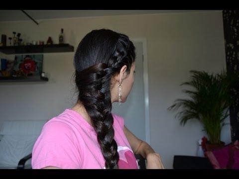Летняя прическа. Плетение косы