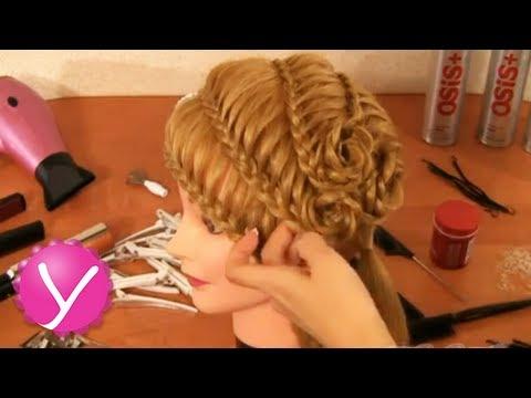 Плетение кос - праздничная прическа с цветами