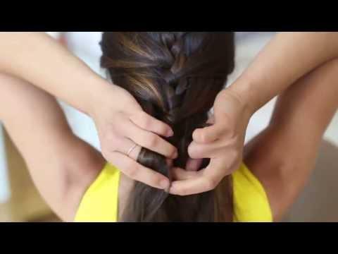 Прическа.Плетение французской косы самой себе. Видео урок, обучение,самоучитель.