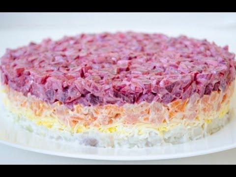 салат шуба классический рецепт с фото