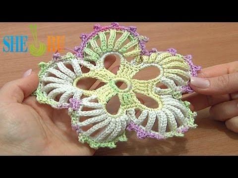 Вязание крючком цветка из пяти лепесток