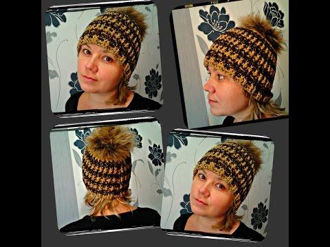 спортивная шапка, вязание крючком - sports cap crochet