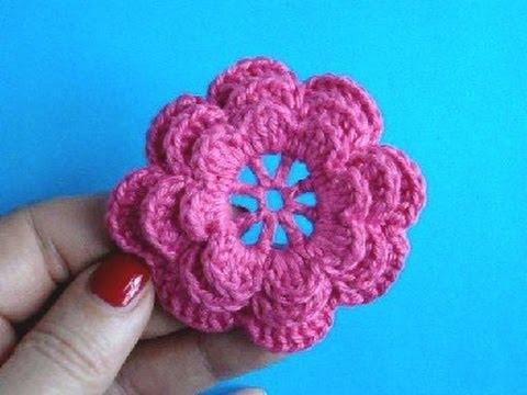 вязаные крючком цветы для шапочек