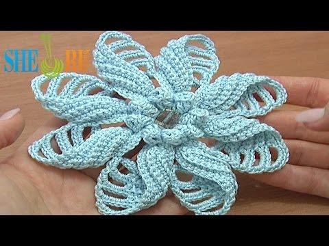 Объемные цветы вязание крючком схемы